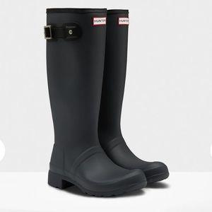 Hunter Shoes - New in Box Hunter Black Matte Packable Rain Boots